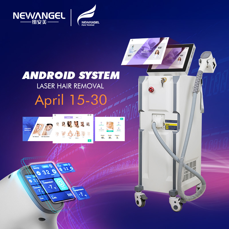 Diode Laser Hair Removal Machine 755 1064 808 Nm Beauty Salon Permanent Painless Whitening