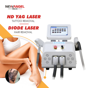 Diode 808 Laser Hair Removal Nd Yag Laser Q Switch Tattoo Removal Machine Aesthetics Salon Clinic 2 in 1 System