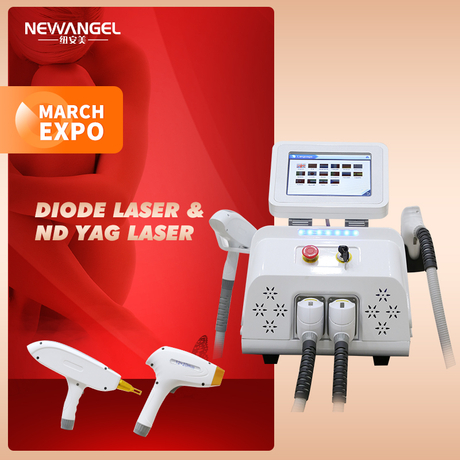 Portable 808nm Laser Hair Removal Acne Treatment Q Switch Nd Yag Tattoo Removal Beauty Equipment Aesthetics