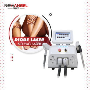 Fsat Diode Laser 808nm Hair Removal Tighten Pores Permanent Nd Yag Laser Tattoo Removal Machine New Design Spa Use