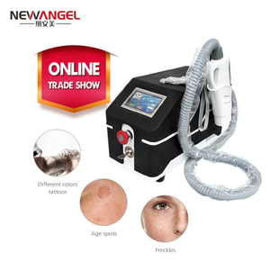 Neck tattoo removal Q switch nd yag laser machine