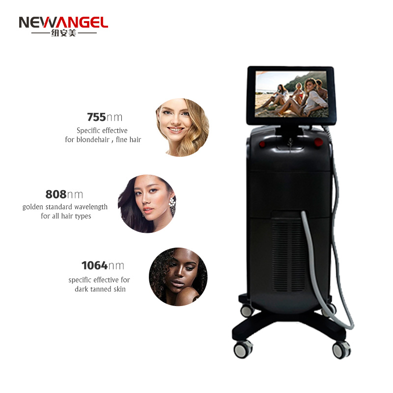 Diode Laser Hair Removal Machine Price Ce Approval Micro Channel 3 Wavelength 1064 755 808nm Skin Rejuvenation