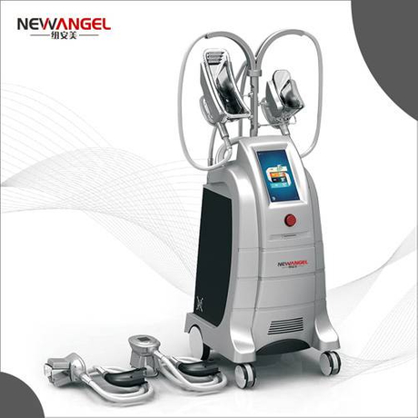 Cryolipolysis fat freezing machine with 4 work handles